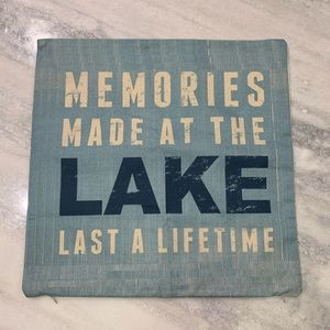 """Memories Made at the Lake Toss Pillow Cover sz 17"""""""